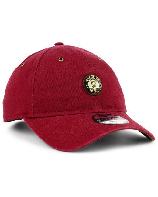 new product 4b118 f9161 ... real ktz red san francisco giants coin 9twenty cap for men lyst 4c1e7  41710