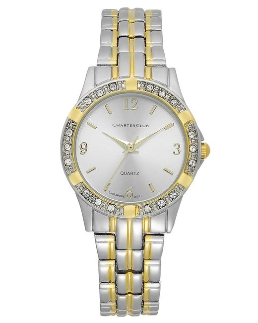 Charter club Women's Two-tone Bracelet Watch in Gray