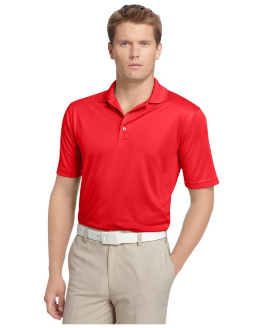 Izod | Red Performance Solid Grid Golf Polo for Men | Lyst