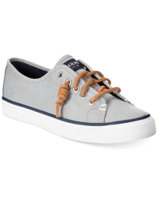 Sperry Top-Sider | Gray Women's Seacoast Canvas Sneakers | Lyst