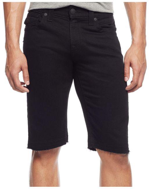 True Religion   Black Relaxed Shorts for Men   Lyst