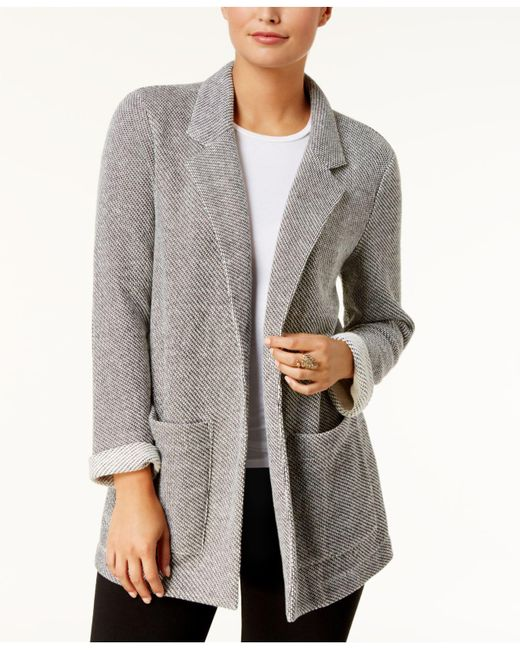 Style & Co. | Gray French Terry Blazer | Lyst