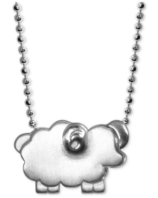"Alex Woo - Metallic Mini Sheep 16"" Pendant Necklace In Sterling Silver - Lyst"