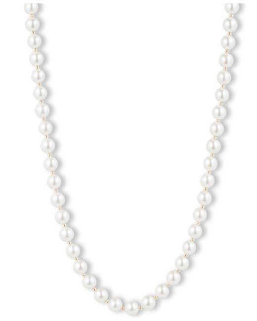 Anne Klein | White Blanc Faux Pearl Collar Necklace | Lyst