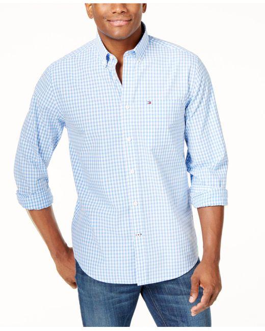 Tommy Hilfiger Blue Long-sleeve Twain Check Shirt for men