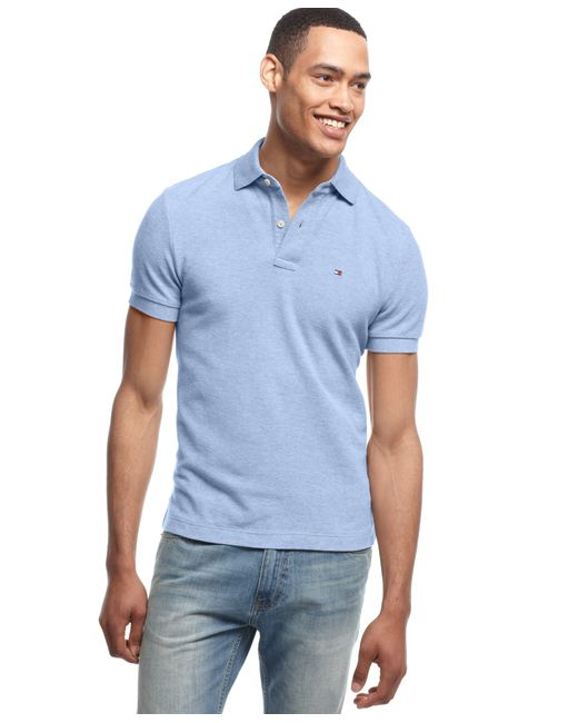 Tommy Hilfiger | Blue Men's Big And Tall Solid Ivy Polo for Men | Lyst