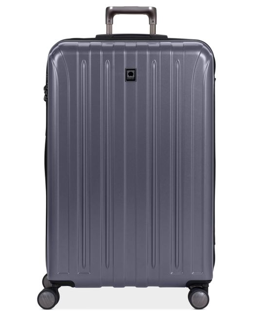 "Delsey | Gray Helium Titanium 29"" Expandable Hardside Spinner Suitcase for Men 