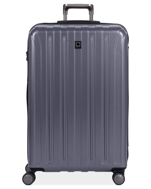 "Delsey | Gray Closeout! Helium Titanium 29"" Expandable Hardside Spinner Suitcase for Men 