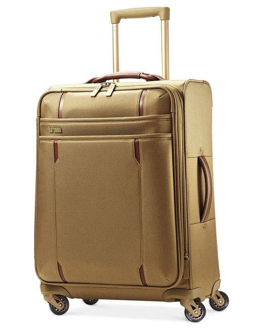 """Hartmann   Natural Closeout! 60% Off Modern Lineaire 20"""" Carry On Expandable Spinner Suitcase   Lyst"""