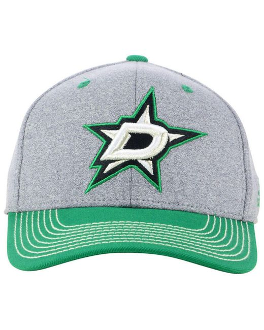 best sneakers 416f0 97a11 ... stretch fit nhl cap 66642 89bfc  sweden adidas green dallas stars  heather line change cap for men lyst 97894 00ffd