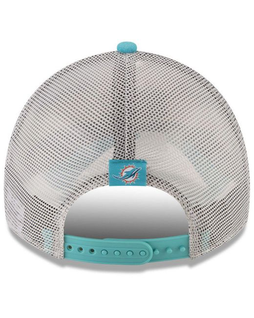 7f52cbb0 ... coupon code for ktz blue miami dolphins patched pride 9twenty cap for men  lyst 8c6d5 c61ab