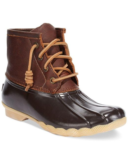 Sperry Top-Sider | Brown Women's Saltwater Duck Booties | Lyst