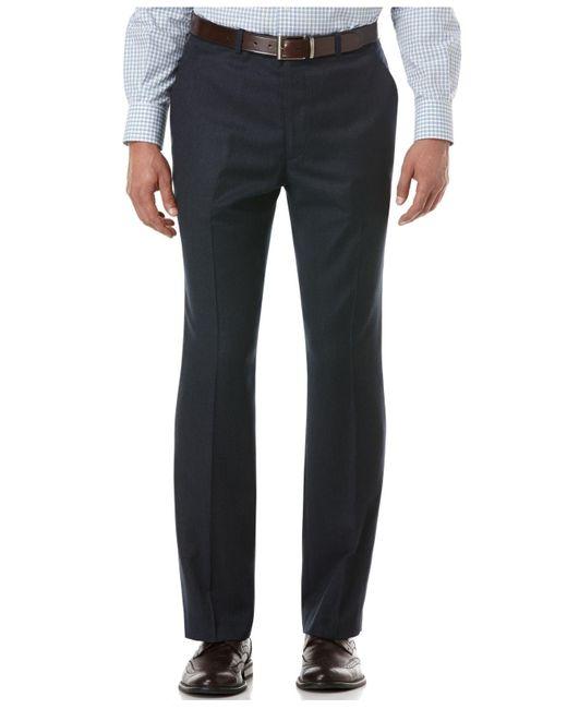 Perry Ellis | Blue Travel Luxe Slim-fit Dress Pants for Men | Lyst