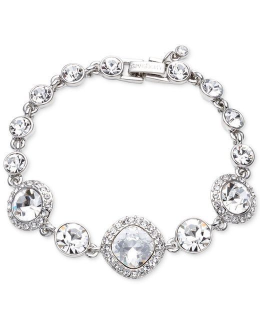 Givenchy   Blue Rhodium-plated Crystal Flex Bracelet   Lyst