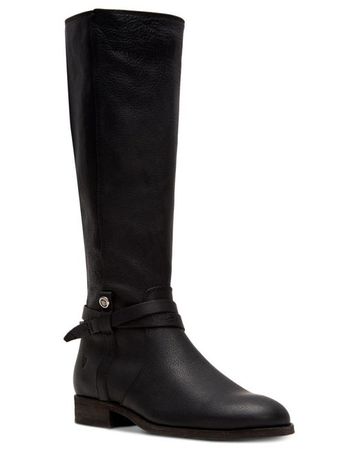 Frye Black Melissa Riding Leather Boots