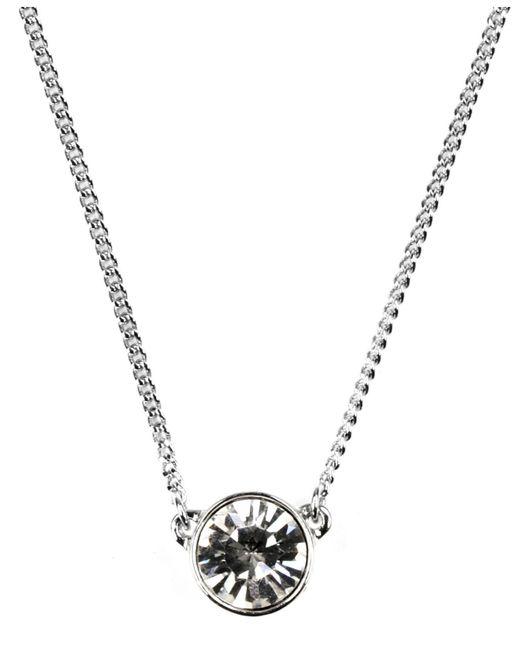 Givenchy - Metallic Silver-Tone Small Swarovski Element Pendant Necklace - Lyst