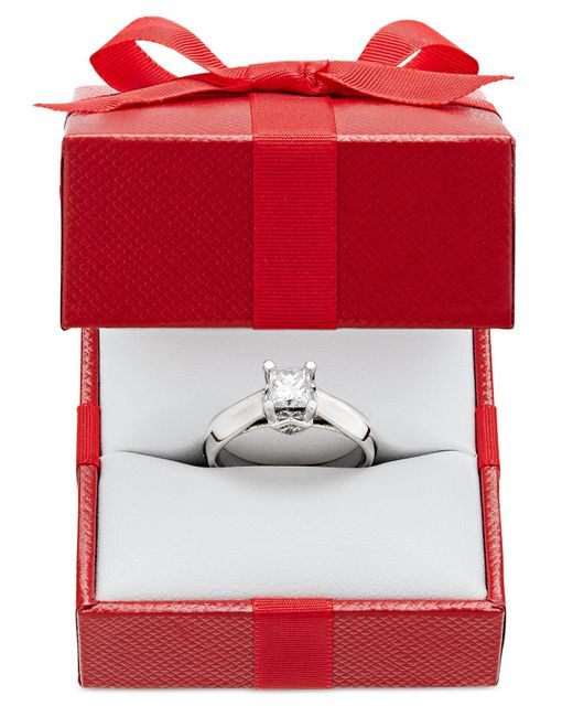 Macy's | Metallic Certified Diamond Solitaire Engagement Ring (1 Ct. T.w.) In 14k White Or Two-tone Gold | Lyst
