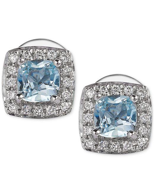 Le Vian - Metallic Aquamarine (3/8 Ct. T.w.) And Diamond (1/10 Ct. T.w.) Stud Earrings In 14k White Gold - Lyst