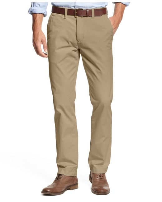 Tommy Hilfiger | Brown Men's Custom Fit Chino Pants for Men | Lyst