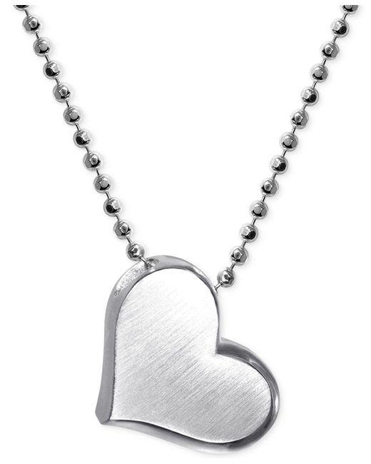 Alex Woo | Metallic Little Princess By Heart Pendant Necklace In Sterling Silver | Lyst