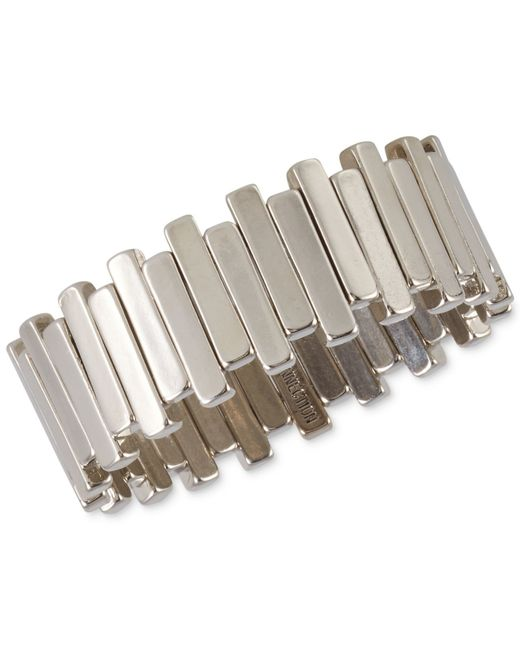 French Connection | Metallic Stagger Bar Stretch Bracelet for Men | Lyst