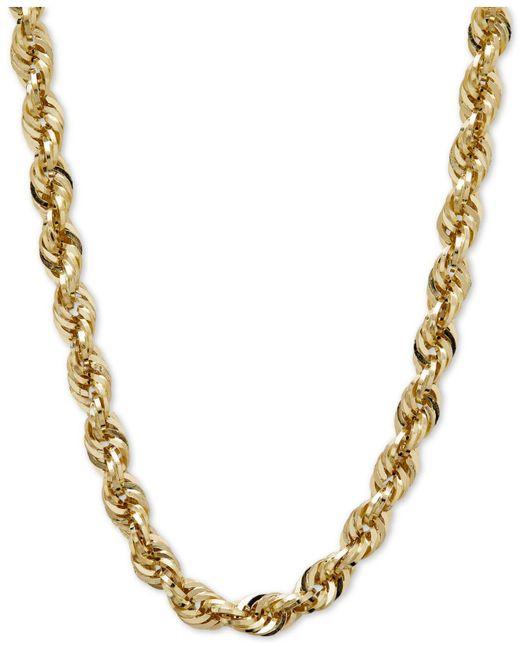 Macy's - Metallic Long Glitter Rope Necklace In 14k Gold - Lyst
