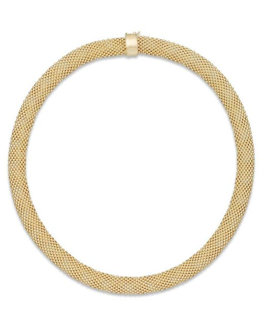 Macy's   Metallic Mesh Collar Necklace In 14k Vermeil Over Sterling Silver   Lyst