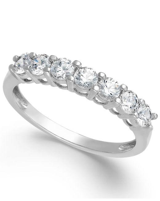 Arabella   Metallic Swarovski Zirconia Solitaire Ring In 14k Gold (1-3/8 Ct. T.w.)   Lyst