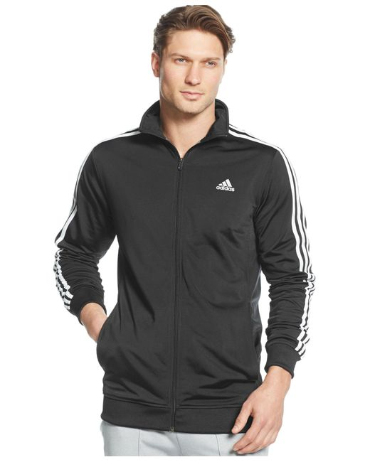 Adidas Originals | Black Men's Tricot Full-zip Track Jacket for Men | Lyst