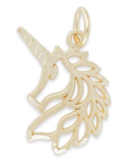 Macy's | Metallic Unicorn Charm In 14k Gold | Lyst