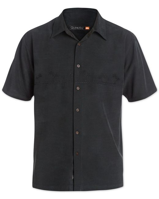 Quiksilver | Black Waterman Men's Tahiti Palms Short-sleeve Shirt for Men | Lyst