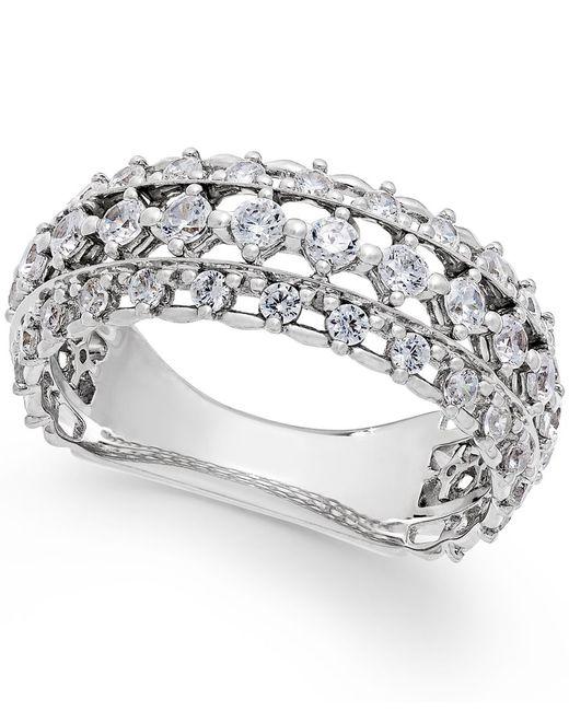 Marchesa | Metallic Certified Diamond Band In 18k White Gold (1 Ct. T.w.) | Lyst