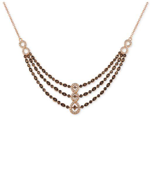 Le Vian - Metallic Diamond Fancy Collar Necklace (1-3/8 Ct. T.w.) In 14k Rose Gold - Lyst