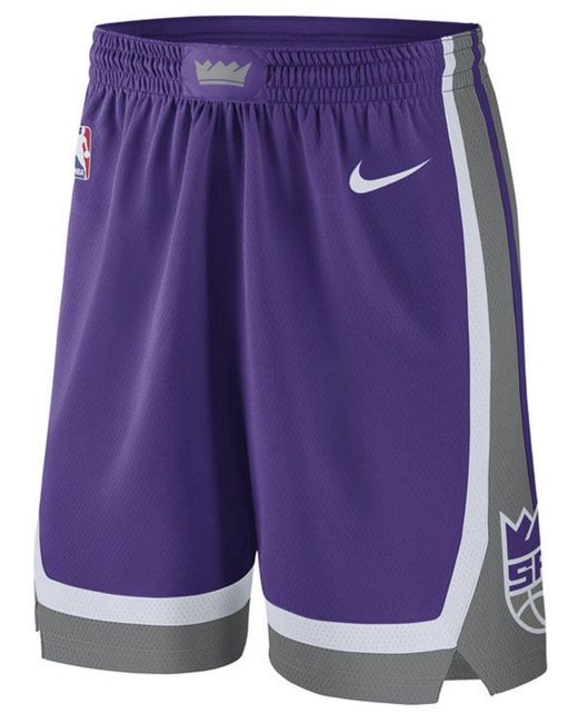 Nike Purple Sacramento Kings Icon Swingman Shorts for men
