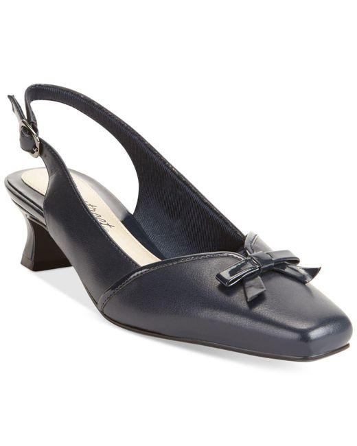 Easy Street - Black Incredible Kitten Heel Pumps - Lyst