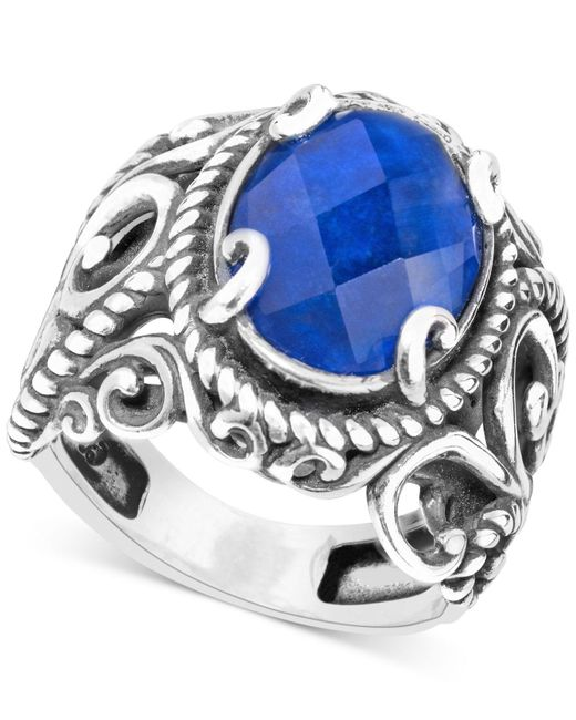 Carolyn Pollack - Blue Lapis Lazuli Doublet Ring (5-3/4 Ct. T.w.) In Sterling Silver - Lyst
