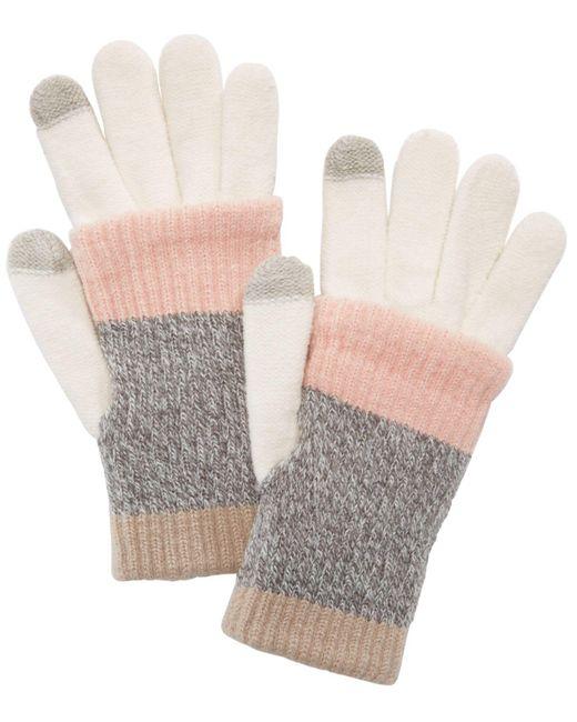 Steve Madden - Gray Multi-stripe Touchscreen Gloves - Lyst