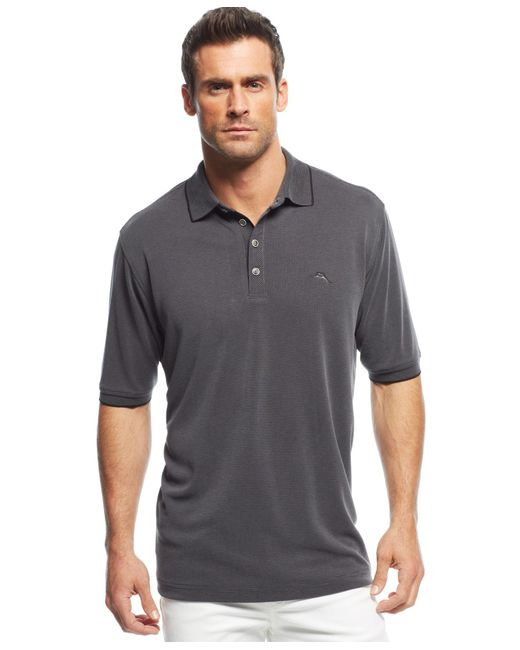 Tommy Bahama | Black Men's All Square Polo, A Macy's Exclusive Style for Men | Lyst