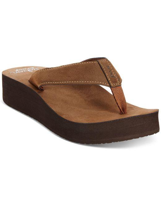 Reef - Brown Cushion Butter Flatform Flip-flops - Lyst