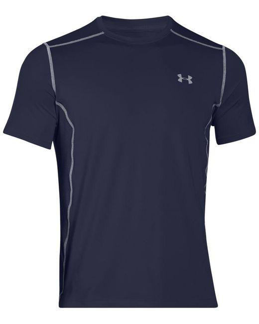 Under Armour | Blue Men's Heatgear Raid Fitted T-shirt for Men | Lyst