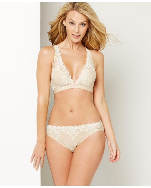 Wacoal   Natural Embrace Lace Soft Cup Wireless Bra 852191   Lyst