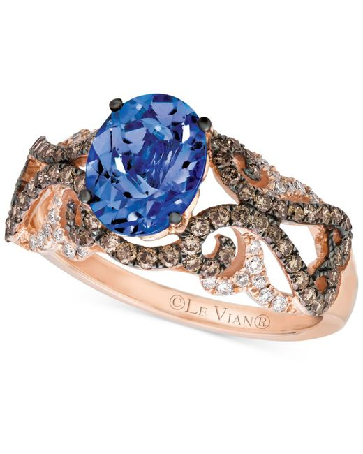 Le Vian | Pink Tanzanite (1 Ct. T.w.) And Diamond (5/8 Ct. T.w.) Ring In 14k Rose Gold | Lyst