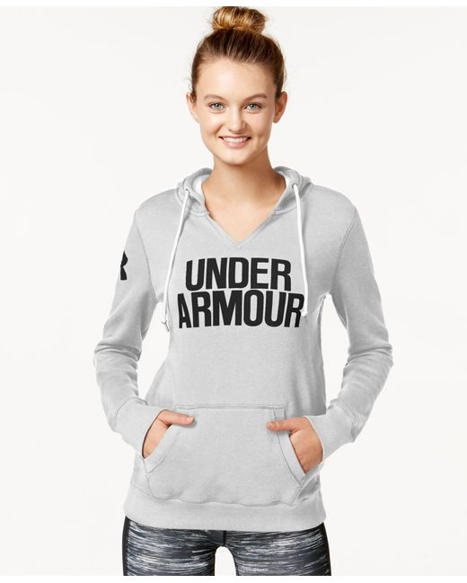 Under Armour | Gray Favorite Fleece Split-neck Hoodie | Lyst