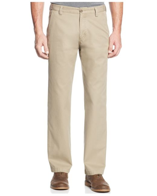 Cutter & Buck | Brown Big And Tall Beckett Flat-front Pants for Men | Lyst