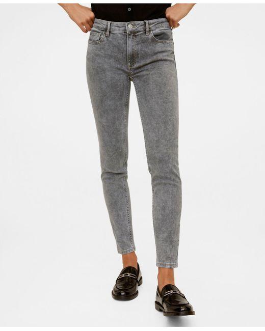 Mango Gray Kim Skinny Push-up Jeans