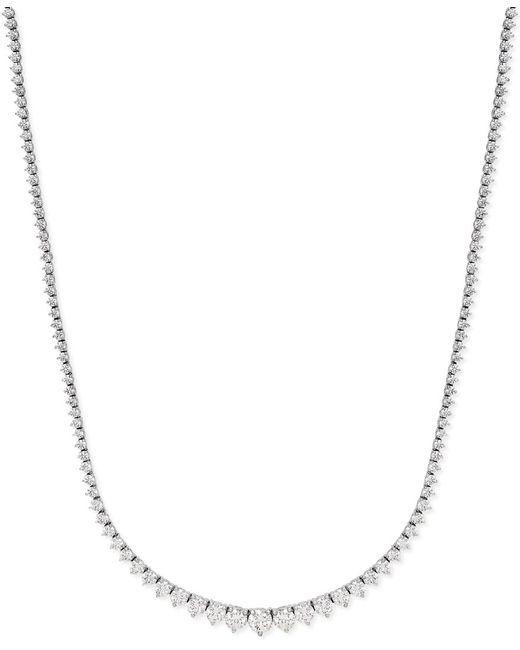 Macy's | Metallic Certified Diamond Riviera Chain Necklace In 14k White Gold (10 Ct. T.w.) | Lyst