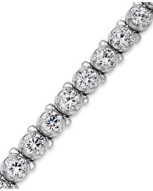 Macy's | Metallic Diamond Tennis Bracelet In 14k White Gold (8 Ct. T.w.) | Lyst