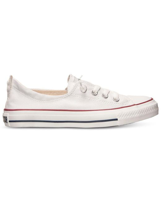 1baeba12789 ... Lyst Converse - White Women s Chuck Taylor Shoreline Casual Sneakers  From Finish Line ...