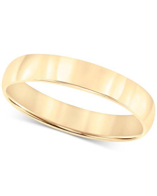 Macy's Metallic 14k Gold Ring, 4mm Wedding Band for men