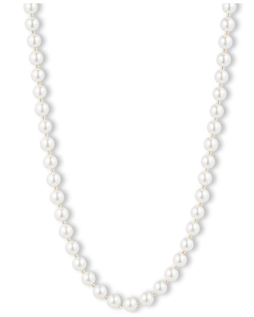 Anne Klein | White Blanc Faux Pearl Collar Necklace | Lyst